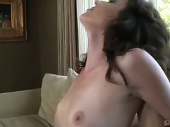 Katie angel rides this big hard cock to the max