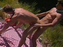 Gay 69 and ass pounding outside