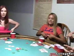Hot college sluts gone wild at strip poker party