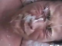 Asian wife gets creamed