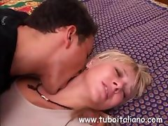 Luisa is an Italian blonde housewife ready for another man's cock