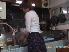 Milf Masturbating Fingering Herself In The Kitchen