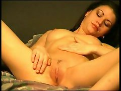 Young brunette playing with herself 2