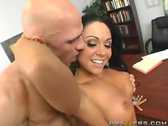 Busty milf Cherokee on the table getting banged hard
