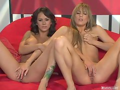 Sexy Nadia Styles and friend fool around till they both orgasm