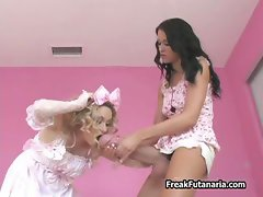 Petite blonde girl gets part6