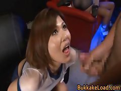 Cute babe Pine Shizuku gets cum drenched part2