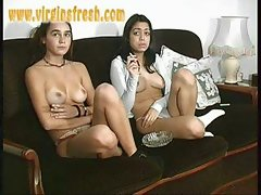 Amateur - French Teens - On the couch