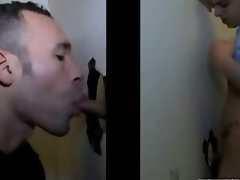 Fit straight guy tricked into sexy gay blowjob