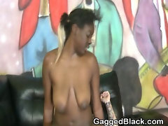 Black Amateur Ghetto Slut Rough Mounted Fucking