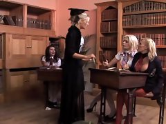 Michelle Thorne and Gemma Massey taking part in a massive gang bang