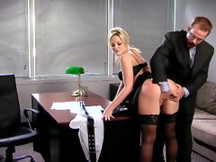 Office spanking and spurting for Alexis Texas