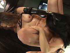 Katsumi and May Luanna grind each others sweet liquid love holes