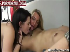 Horny college girls have group sex