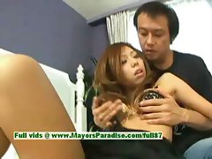 Misa Tsuchiya innocent naughty asian girl gets pussy licked and kissing