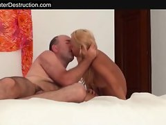 Skinny girl get fucked hard by daddy