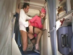 Horny stewardess