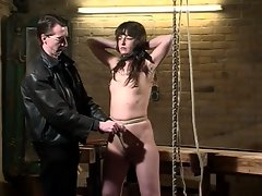 German slut pussy-bound and chained