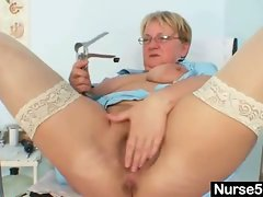 Natural big tits granny bizarre masturbation in hospital