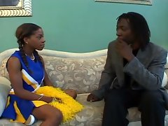 Ebony cheerleader fucked by huge black cock