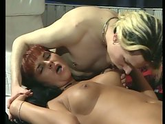 Horny bitch fucked by two dudes