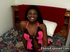 Black hottie with perfect tits pounded