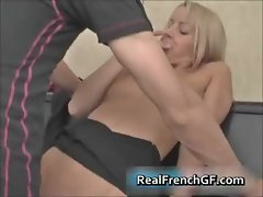 Cute french gf sucking cock on piano