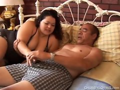 Cute chubby latina has lovely large tits