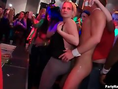 Hot party girls dancing and fooling around