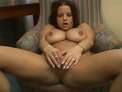 Girl with big naturals likes to masturbate