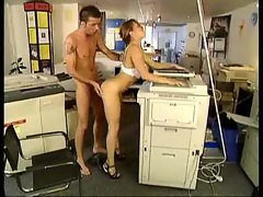 Tasty babe fucked by the copy machine guy