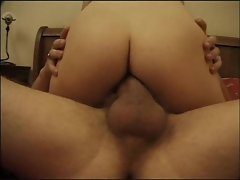 Hard cock fucks the smiling slutty girl
