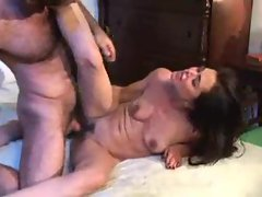 Skinny chick with small tits fucked by a stud