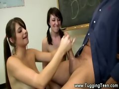 The teachers love being tugged by their horny students