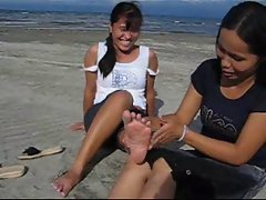 Rica gets her feet tickled