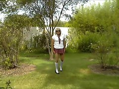 Sexy School Girl Crossdresser