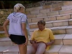 Blonde Teen Anal Outdoor with Mature Guy by TROC