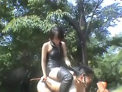 riding Goddess trained a slave
