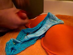 Soaking Mom&,#039,s Dirty Bra and Thong