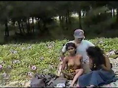 2 Shy Indian Whores Fucked Outside in a Field