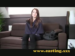 Casting - Catwalk Teen tries porn