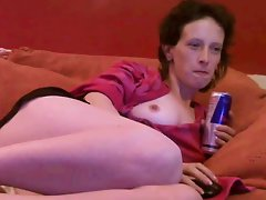 Mature woman shows on webcam