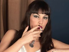 Angelina Dee - Smoking Fetish at Dragginladies