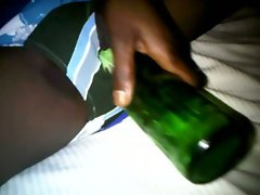 My African Fuck partner - beer bottle in slit
