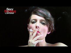 Smoking Fetish - Amazing Dark haired Smokes a Thick Cigar