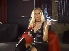 Sensuous Luscious Randy Nadja Smoking using a Holder