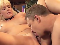 Experienced Heide Mayne drooling on penis before getting her vagina slammed