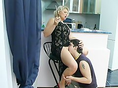Attractive mature with cigarette holder in sex episode