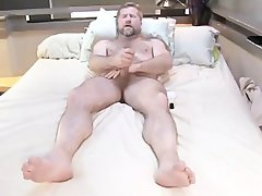 Fuckin Filthy Very hairy Dad shoots big load