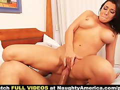 Rachel Starr is a filthy stripper with big pierced knockers that bangs bfs son